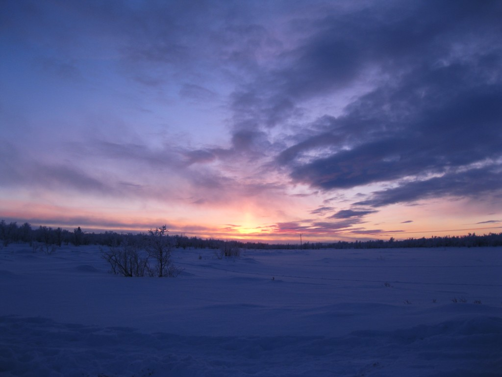 January sunrise in Petsikko 2