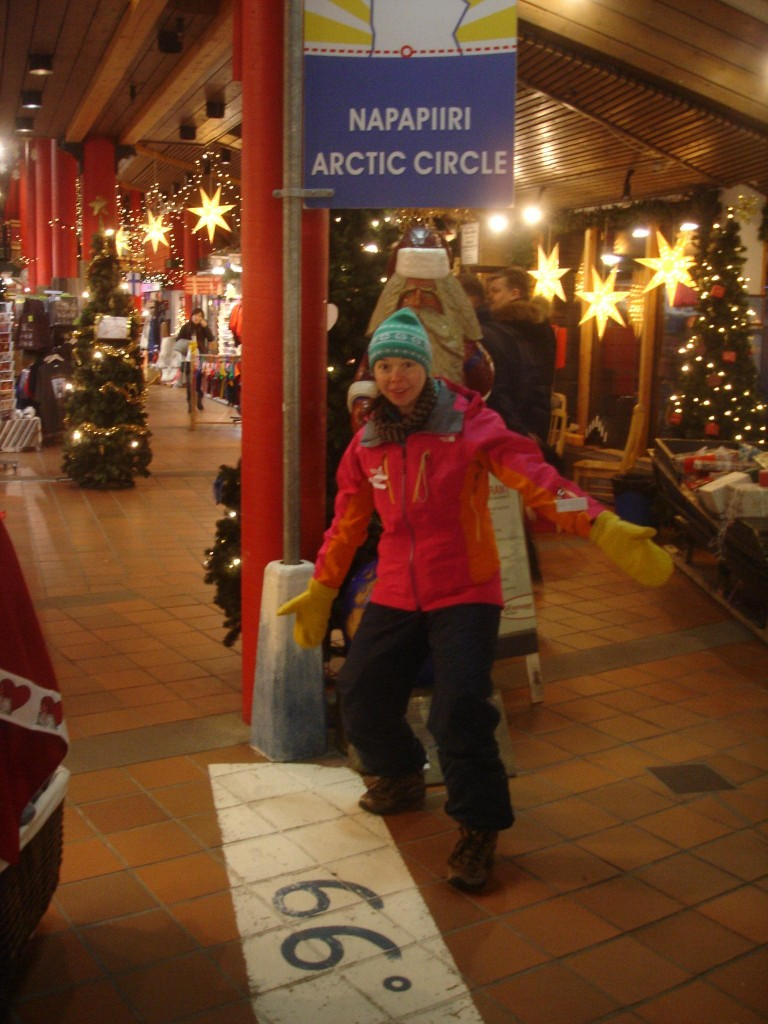 standing on the arctic circle