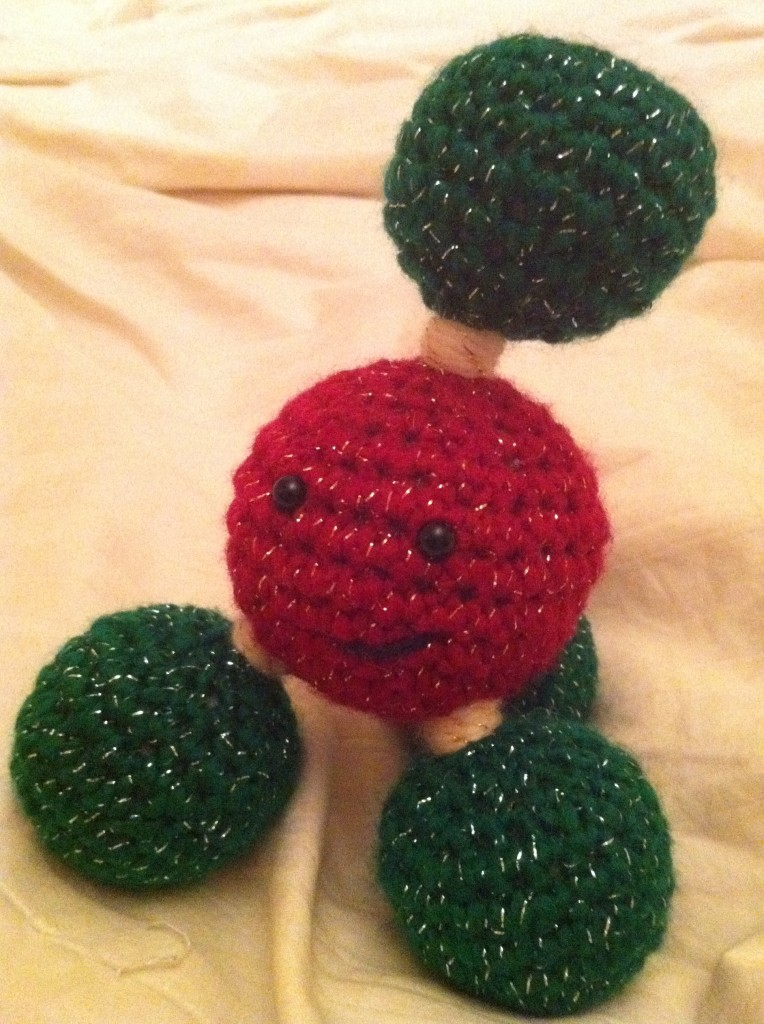 Methane - the crocheted molecule