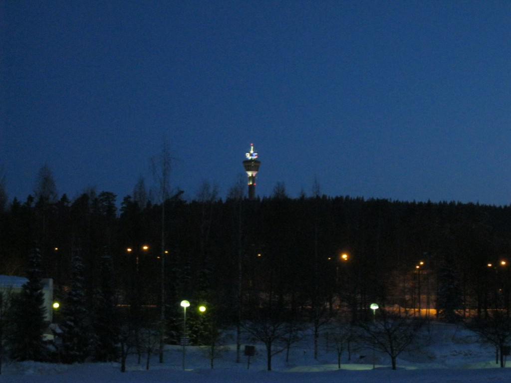 Puiljon Tower by night