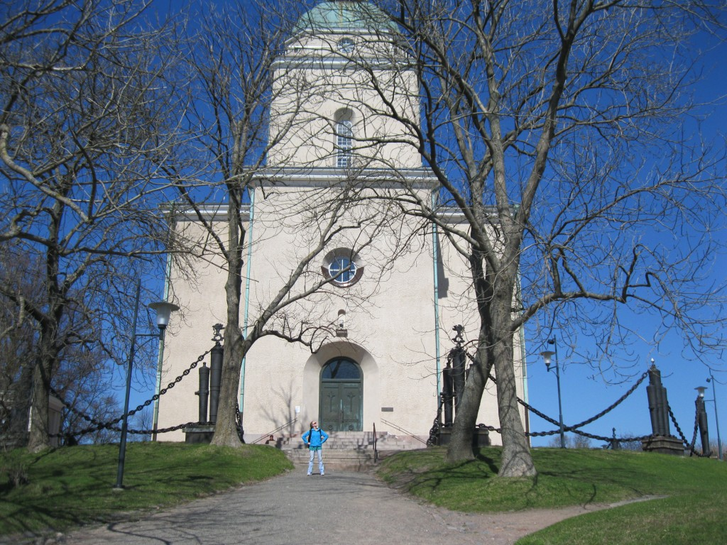 Abby and the Suomenlinna Church