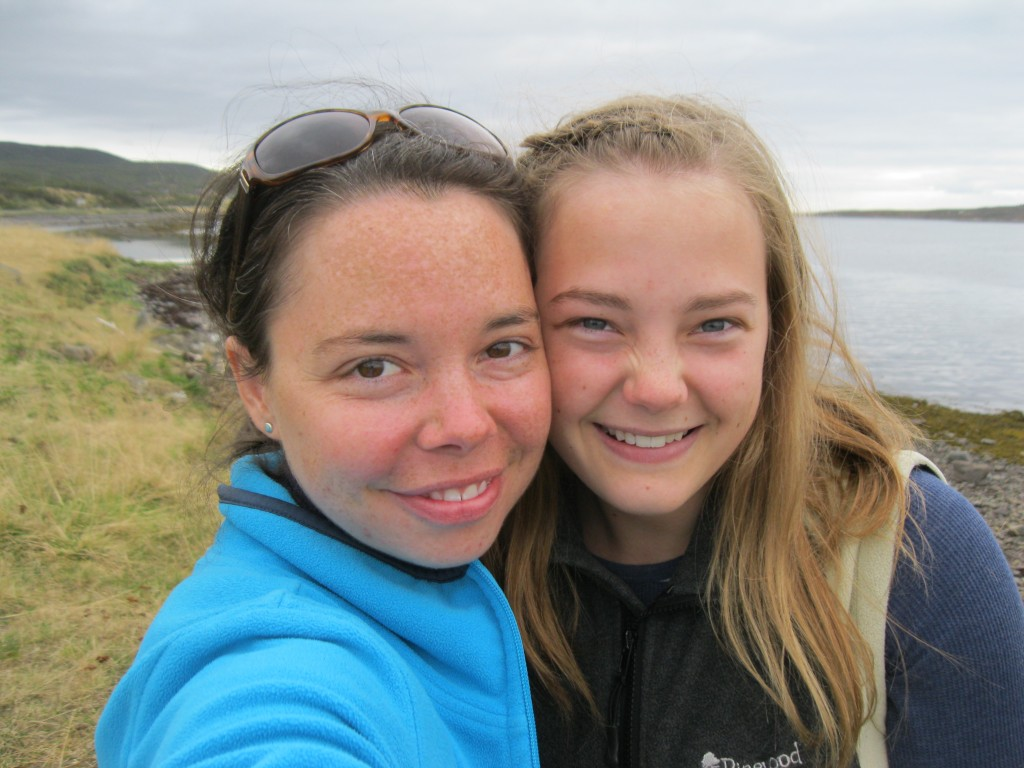Kim and Abby at Varangerfjord