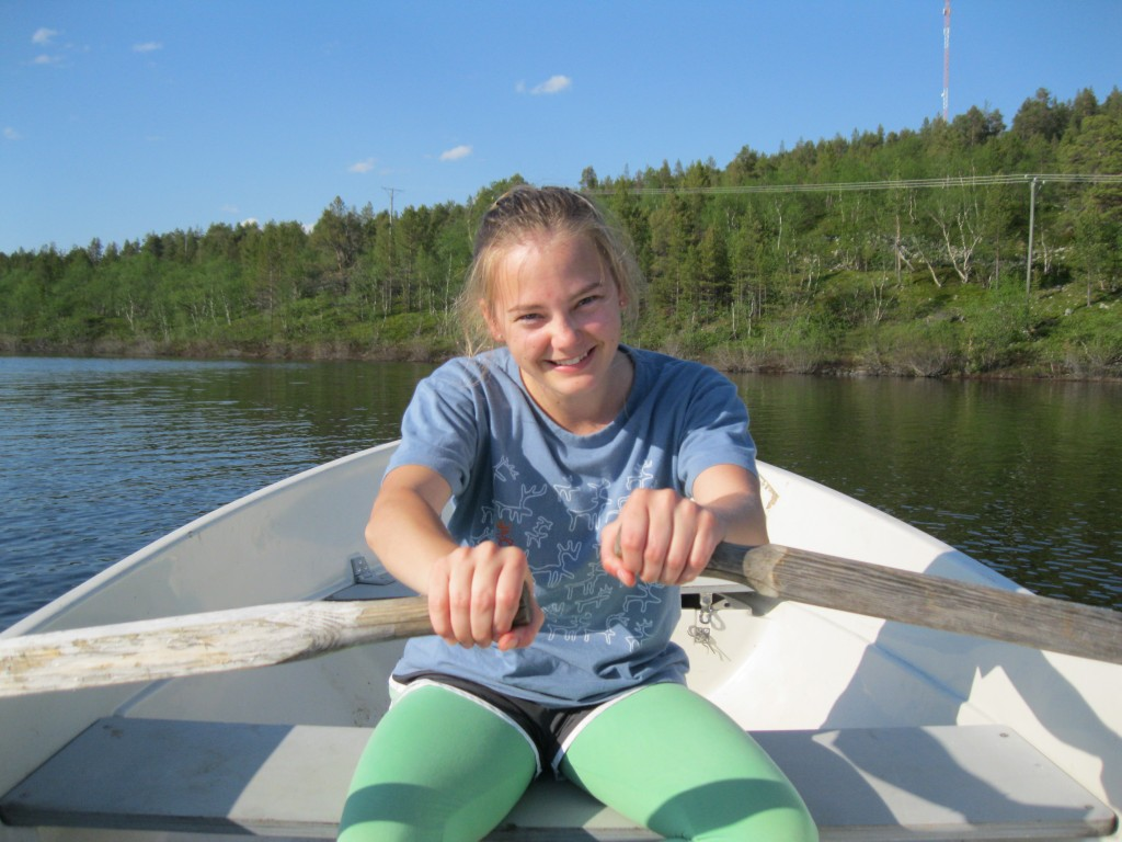 Abby rowing