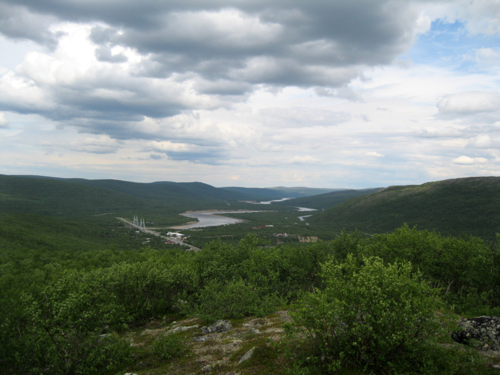 Utsjoki from slightly-above